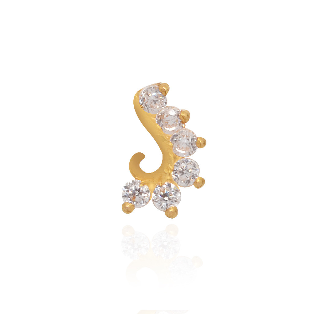 Sterling Designer Gold Nose Pin