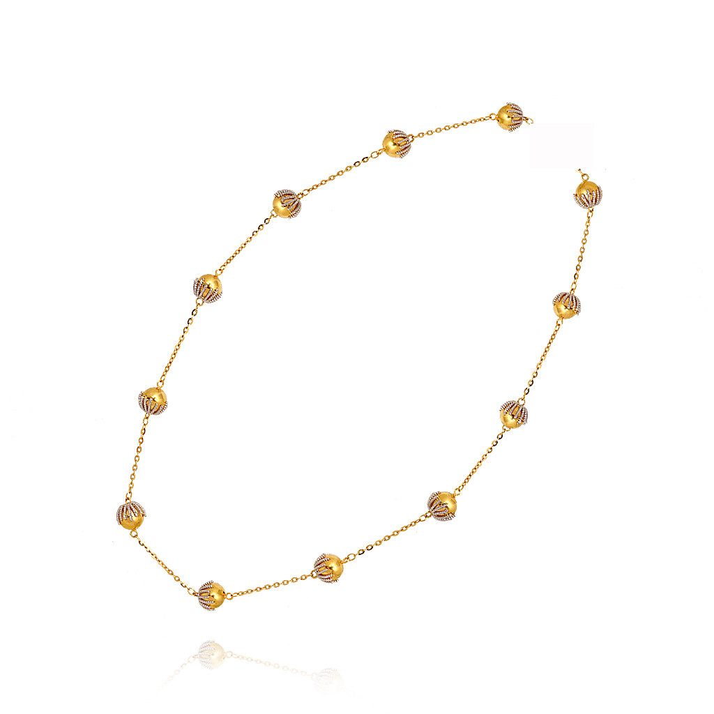 Stylish Carrying Ball Gold Chain
