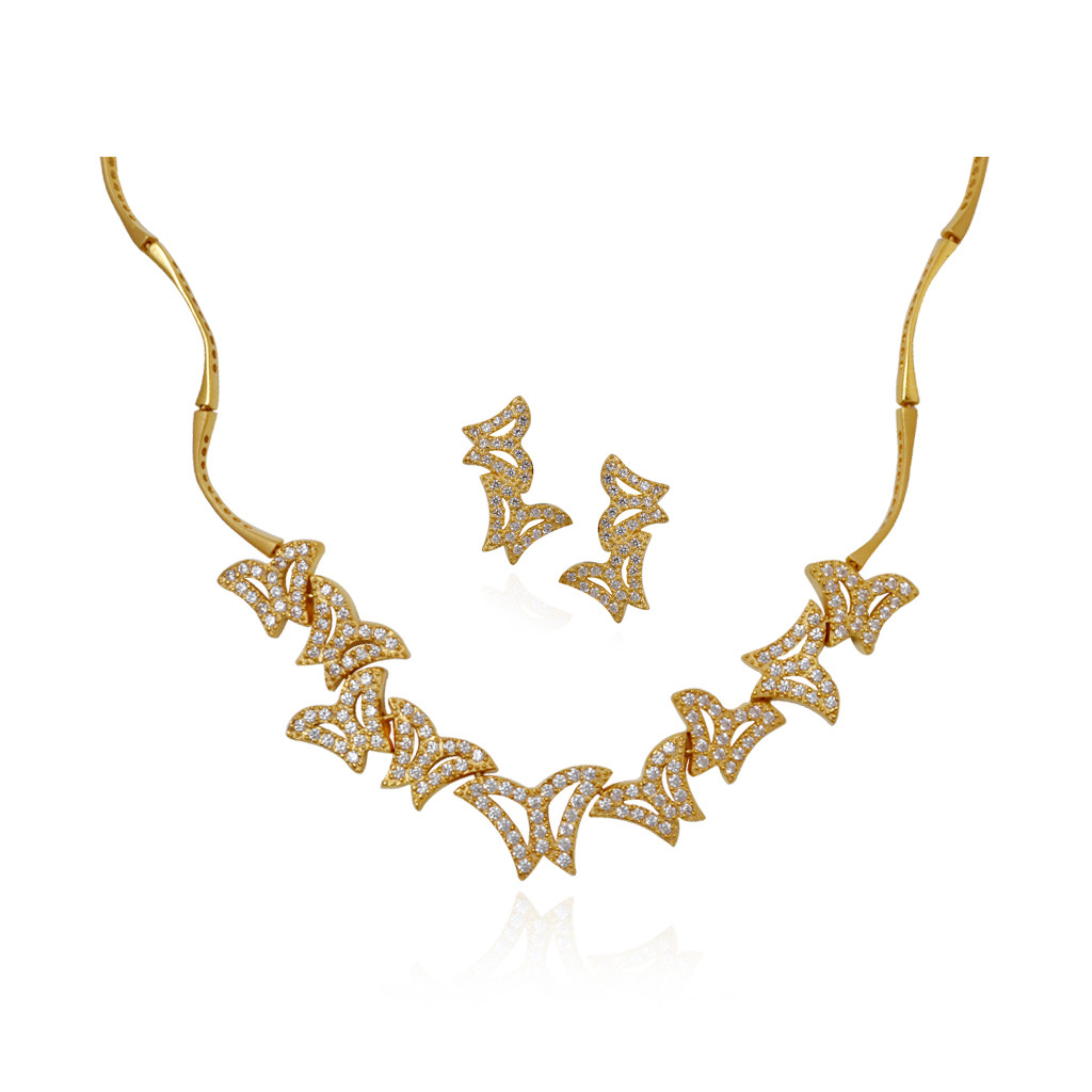Shiny Butterflies Shape Gold Necklace
