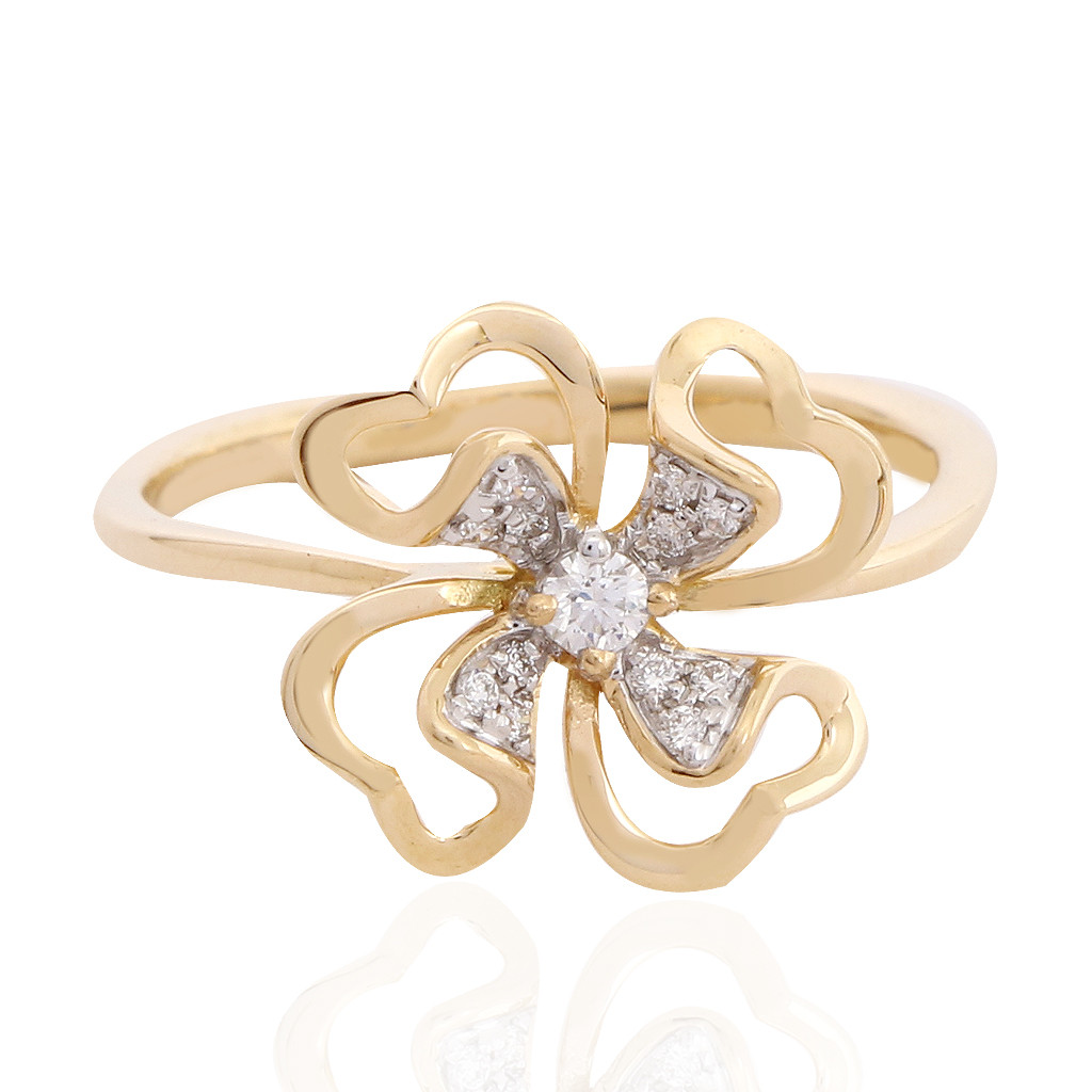 The Carnation Floral Diamond Ring