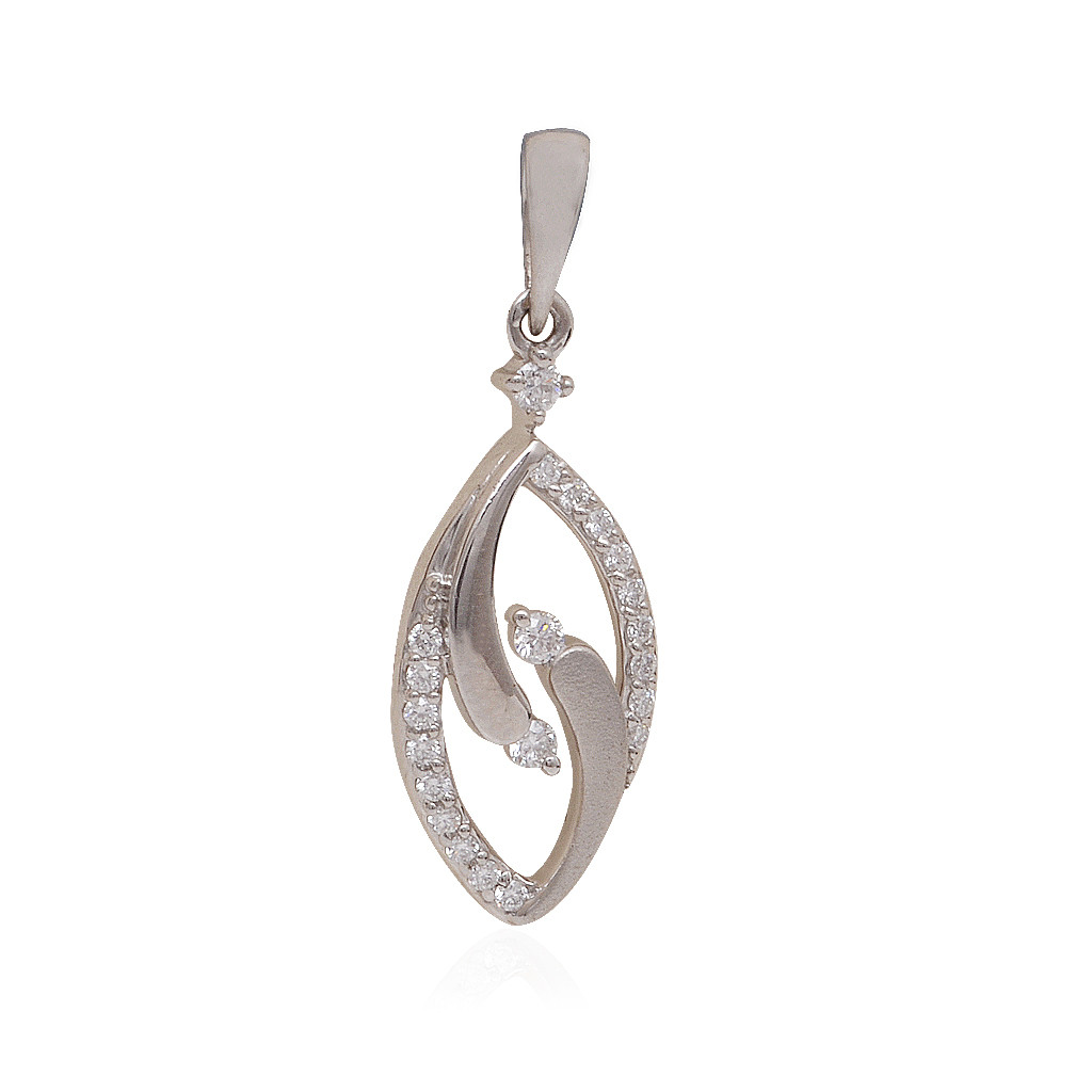 Sparkle Duotone Shirley Diamond With Platinum Pendant