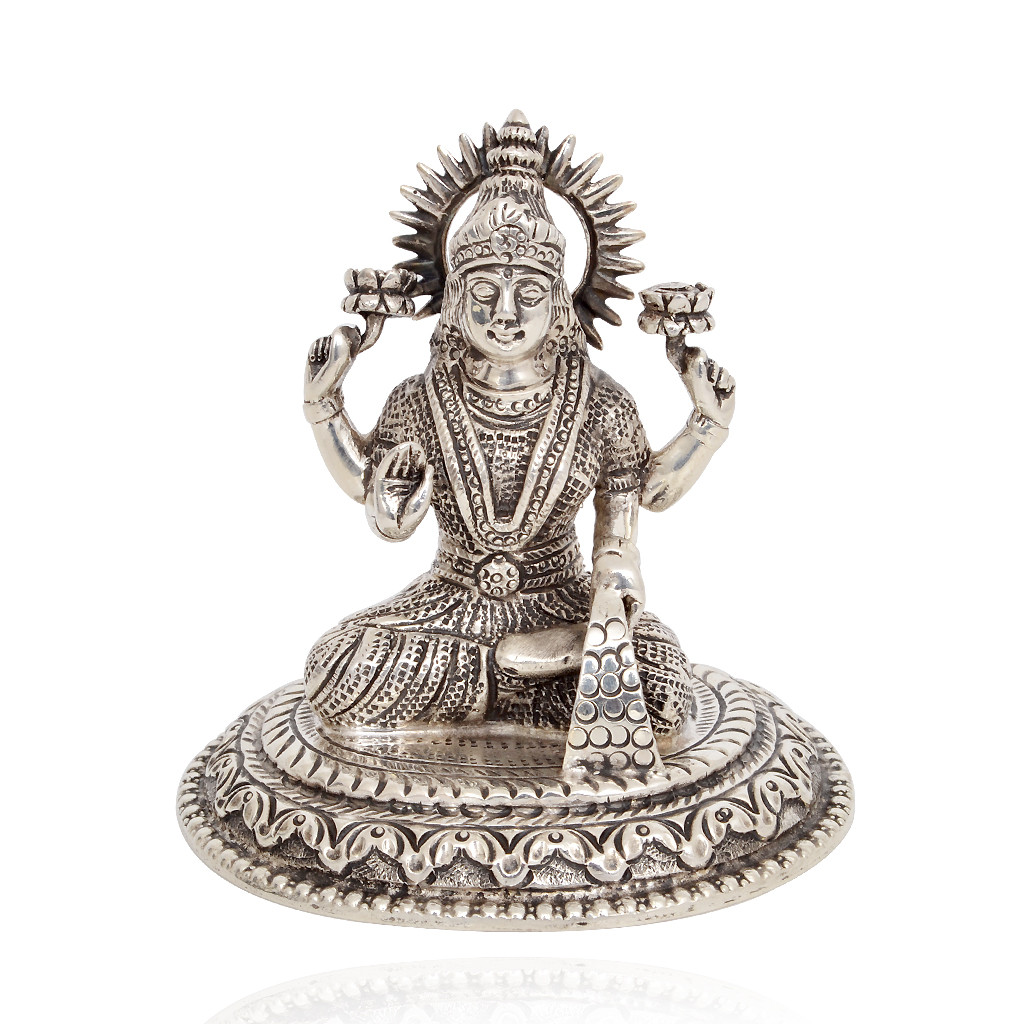 92.5 Silver Lakshmi with Antique Finishing