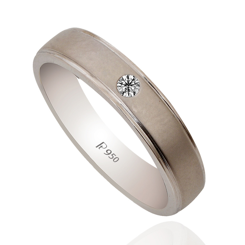 Indian Design Wedding Platinum Band