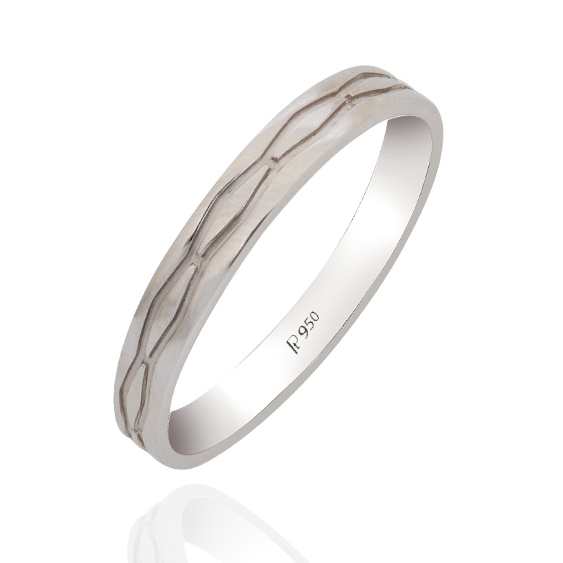 Designer Platinum Band Ring