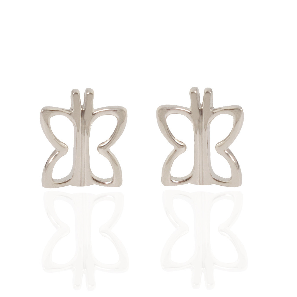 The Butterfly Platinum Love Earrings