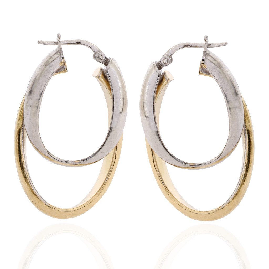 The Olena Duo Tone Silver Earrings