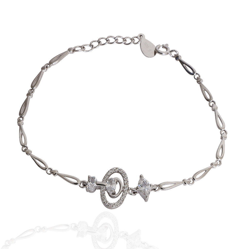 The Oval Latice Silver Bracelet