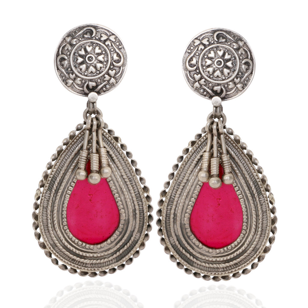 The Adira Antique Pear Silver Earrings