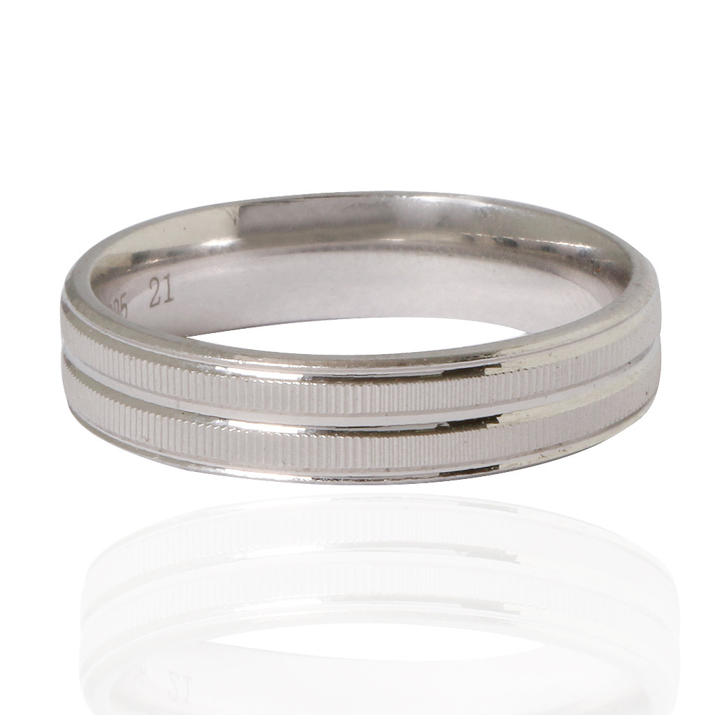 The Love Band Silver Ring