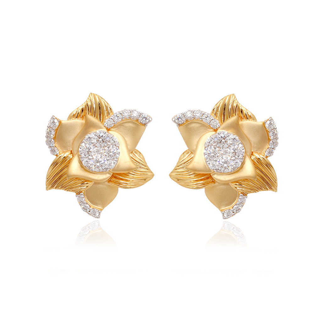 Sparkling Sunshine Floral Diamond Earring
