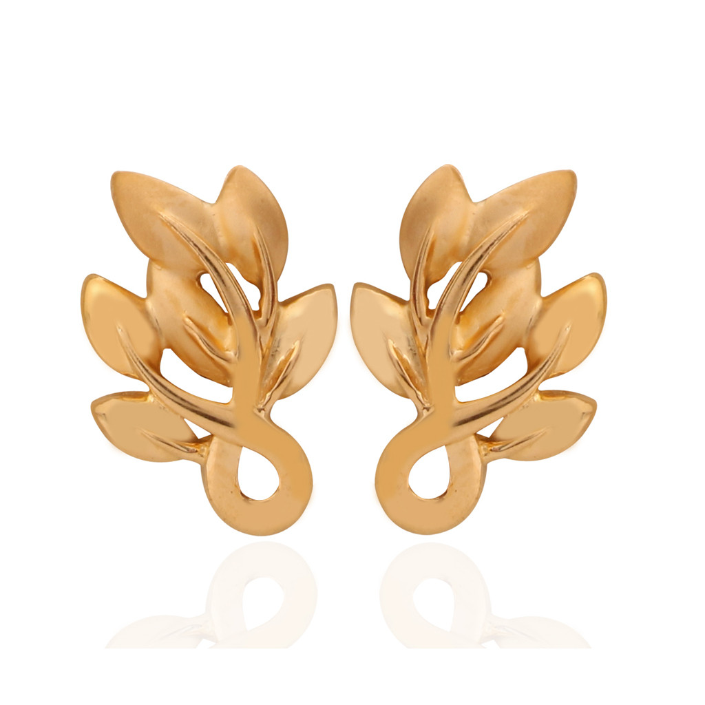 Rowan Sorbus Accuparia Leaf Gold Earrings