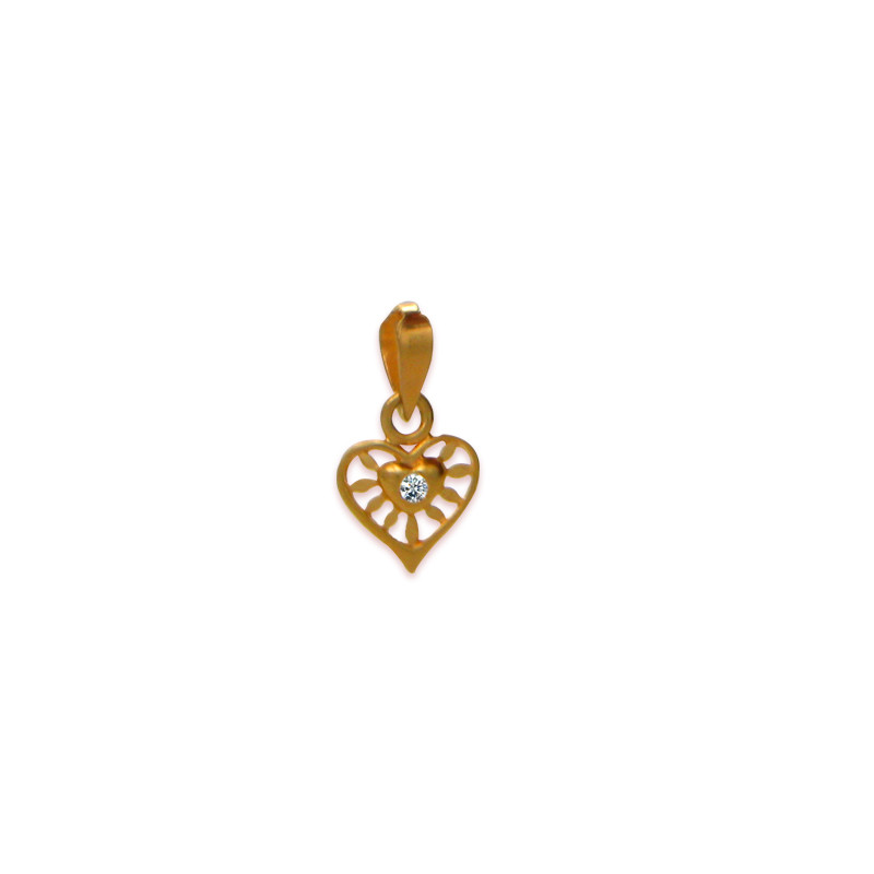Rays of Heart Gold Pendant