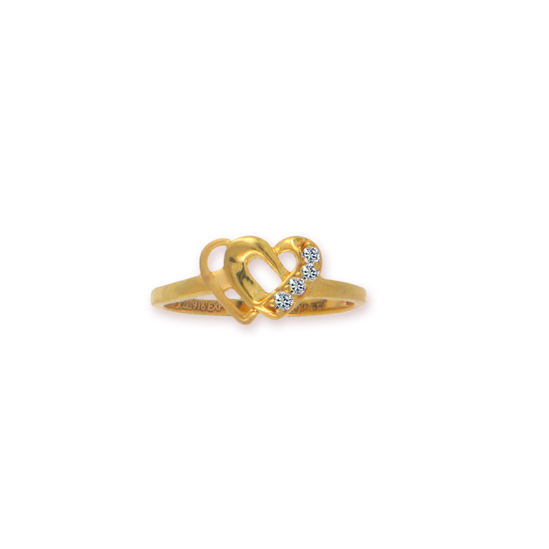 Little Hearts Charming Gold Ring