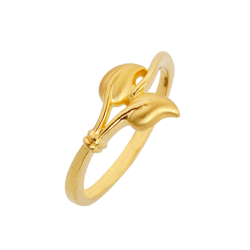 Two Leaf Gold Ring