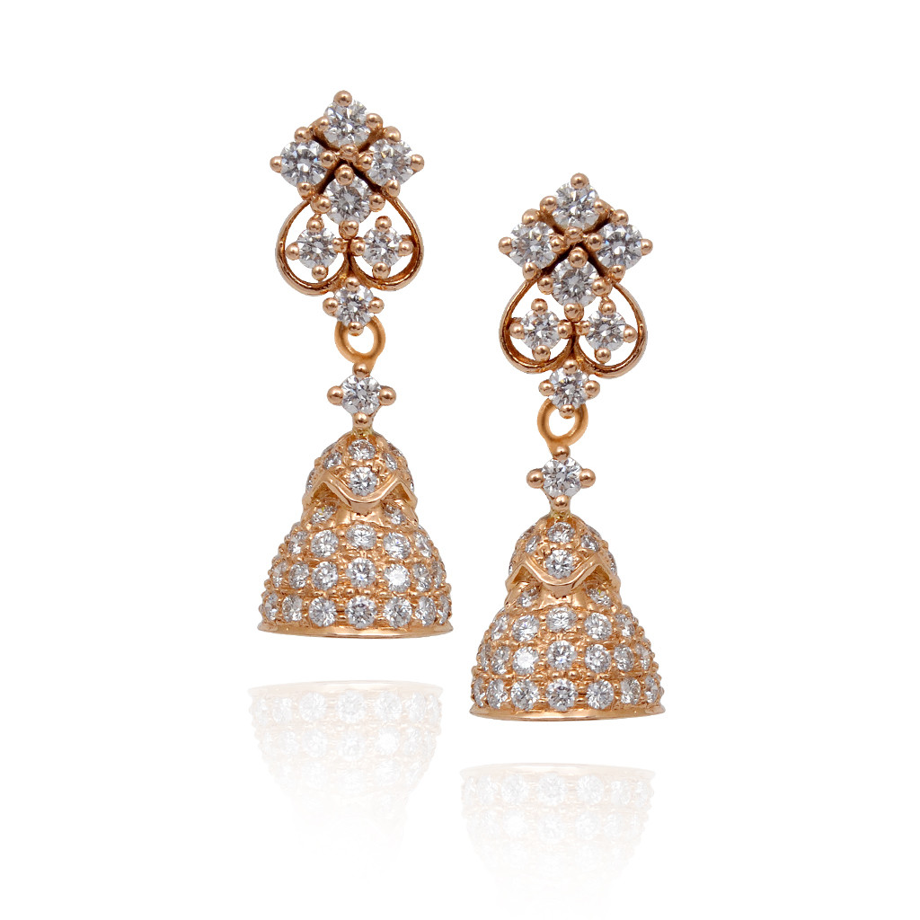 Hanging Bell Shape Diamond Stones Studded Jimmiki