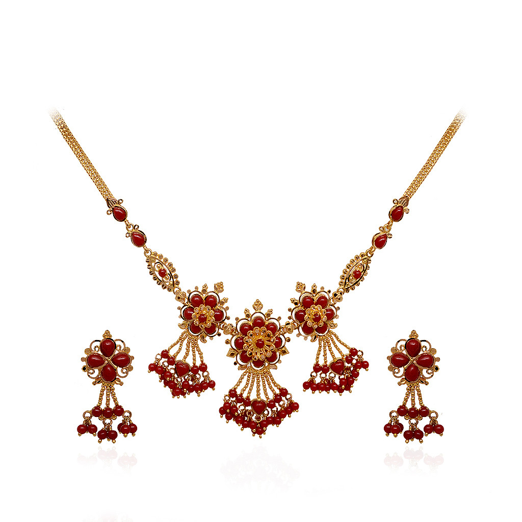 Contemporary Trends in Design Coral Necklace