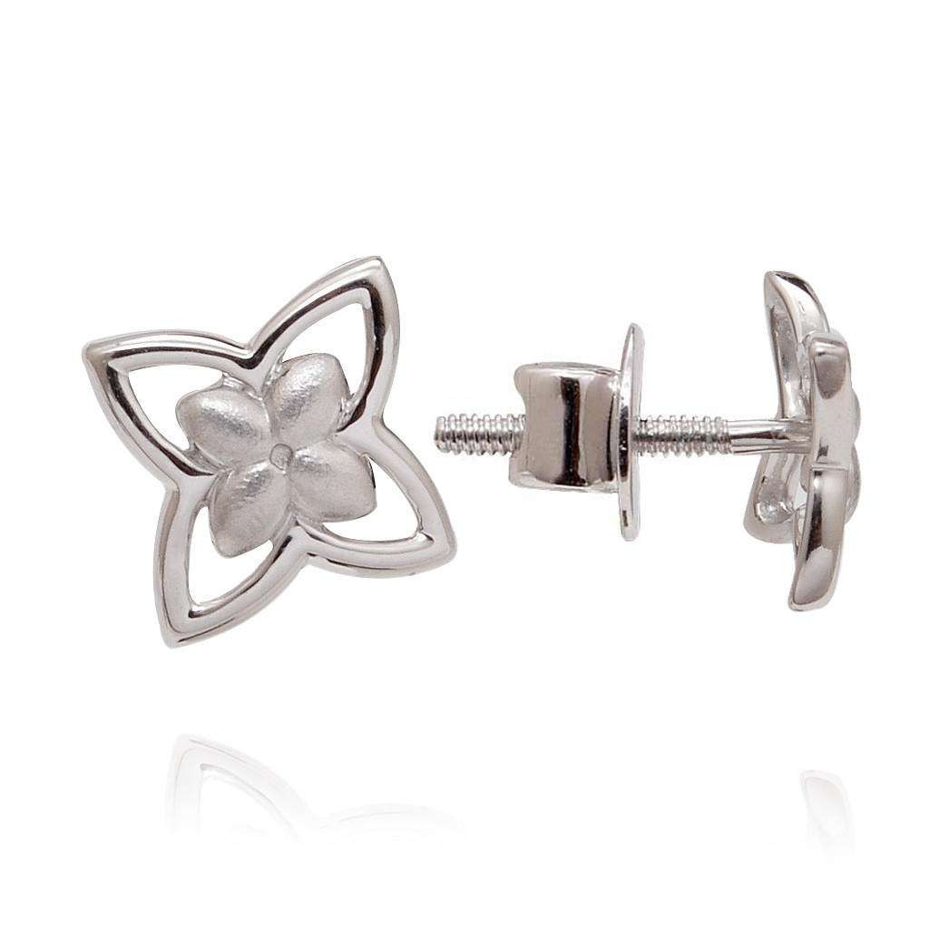 Butterfly Love Platinum Stud