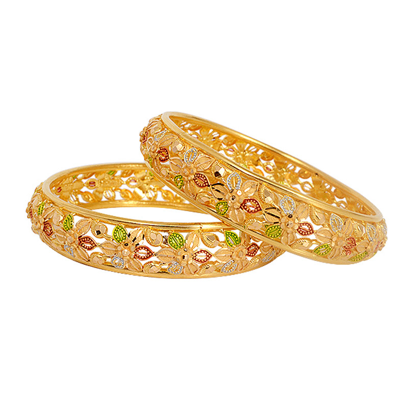 Fancy Painted Floral Bangle