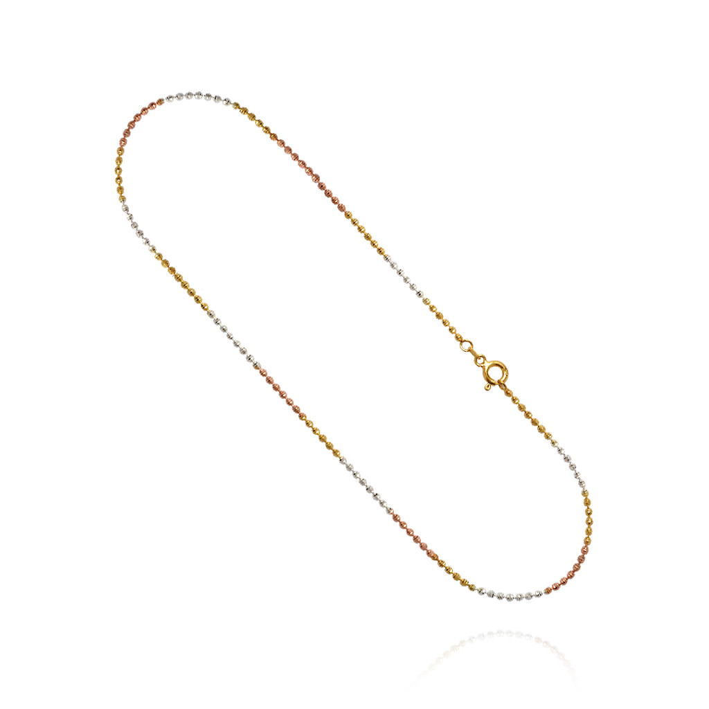 Clasp Style Bead Silver Chain