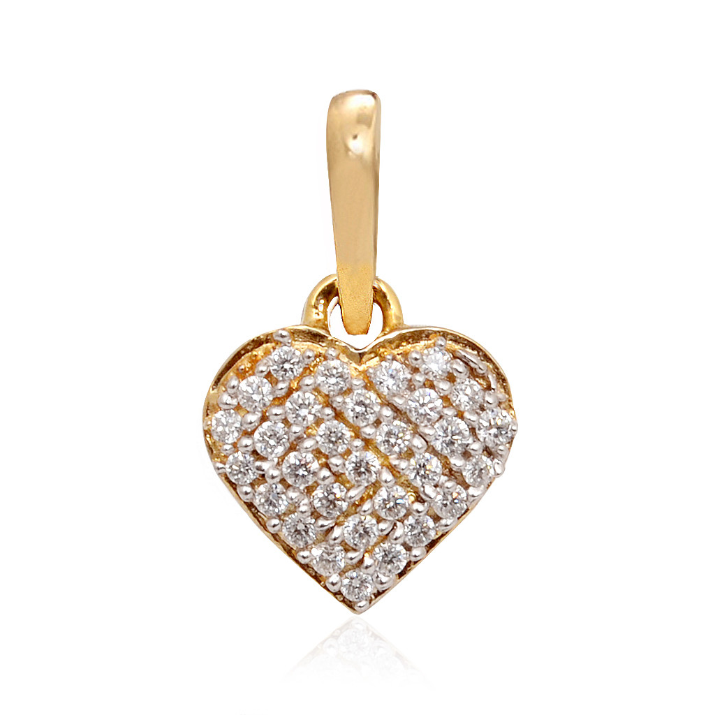 Beautiful Beating Heart Diamond Pendant