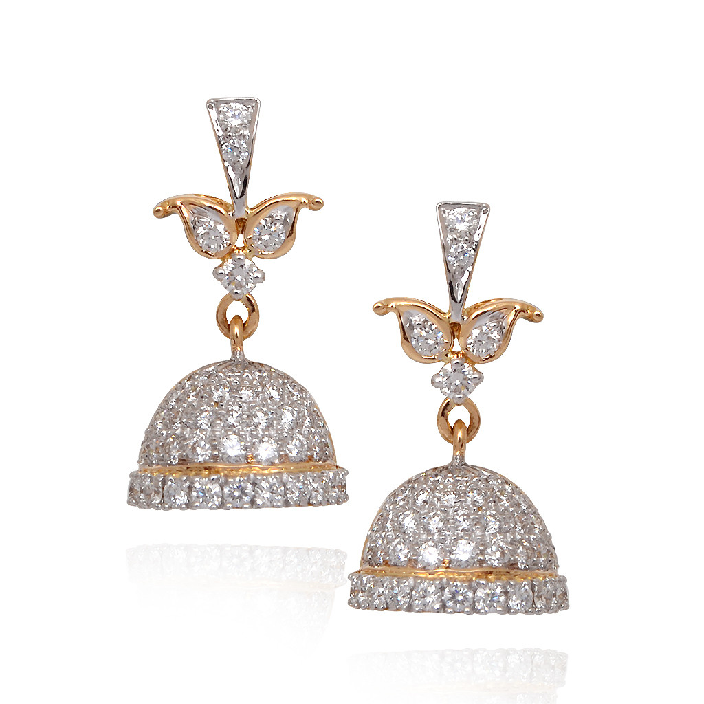 Elegant Diamond Studded Bell Shape Hanging Jimmiki