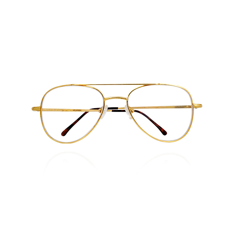 Eyeglass Frames Gold : Mens accessories Gold Optical Eyeglasses Frame GRT ...