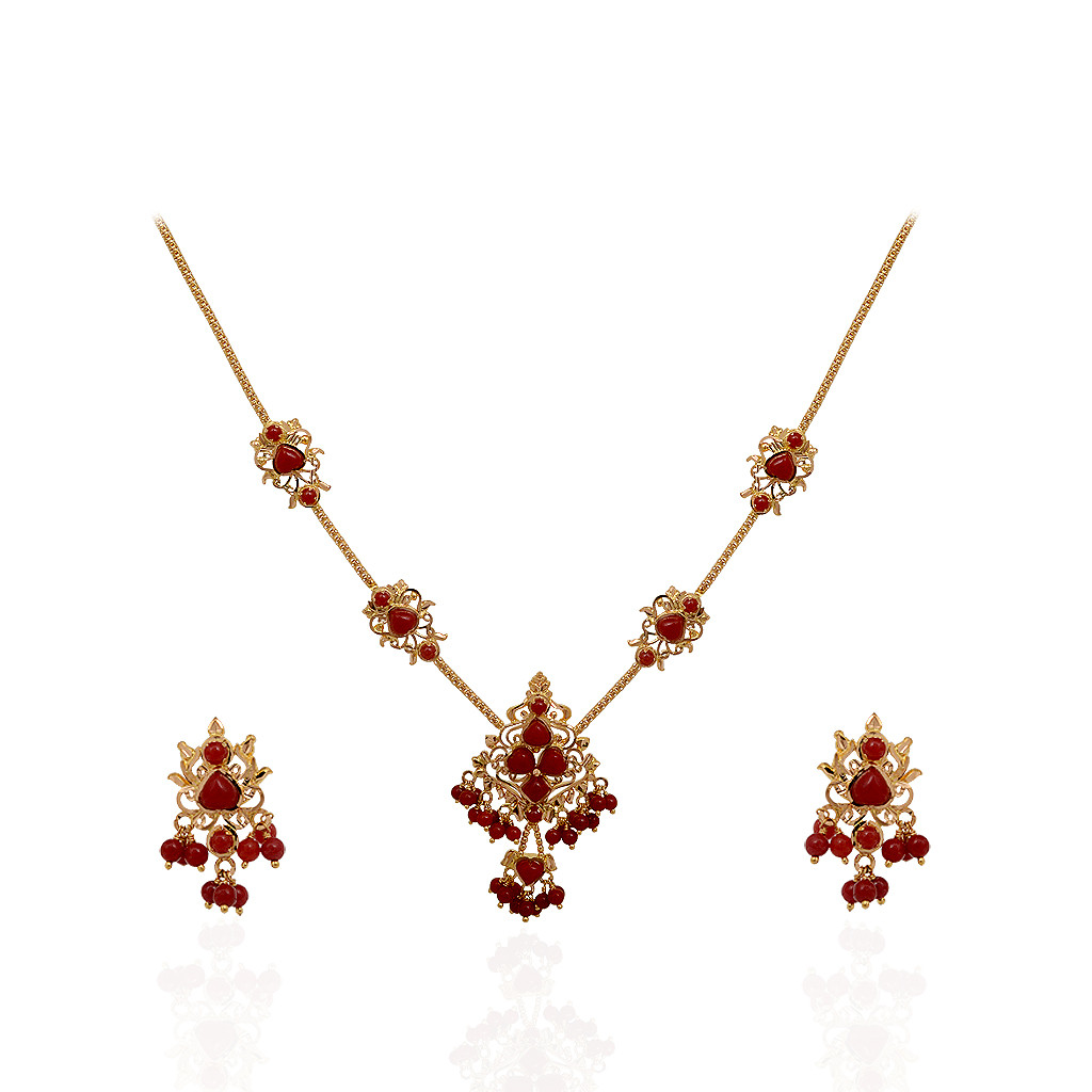 Beautiful Indian Coral Necklace