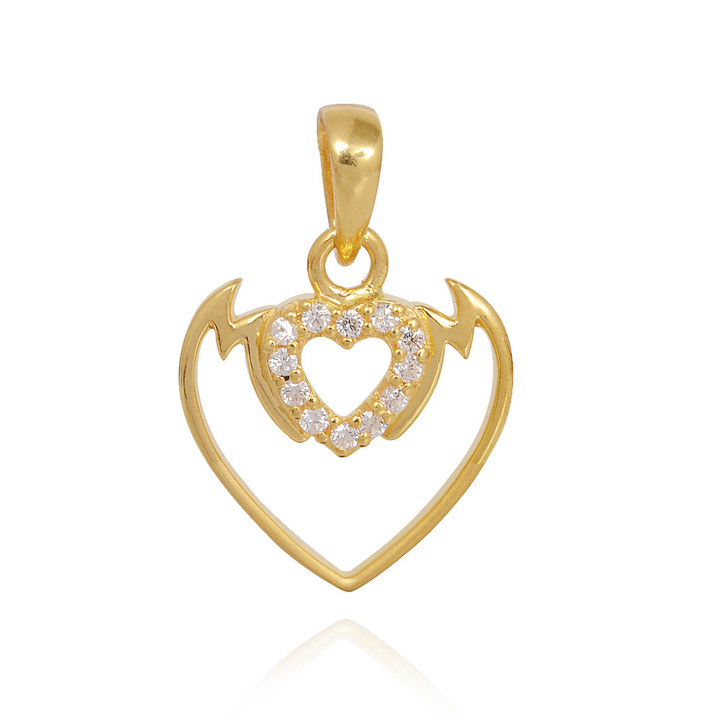 Mom Hearting Gold Pendant