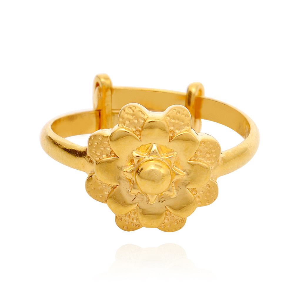 Beautiful Flower Shape Gold Metti