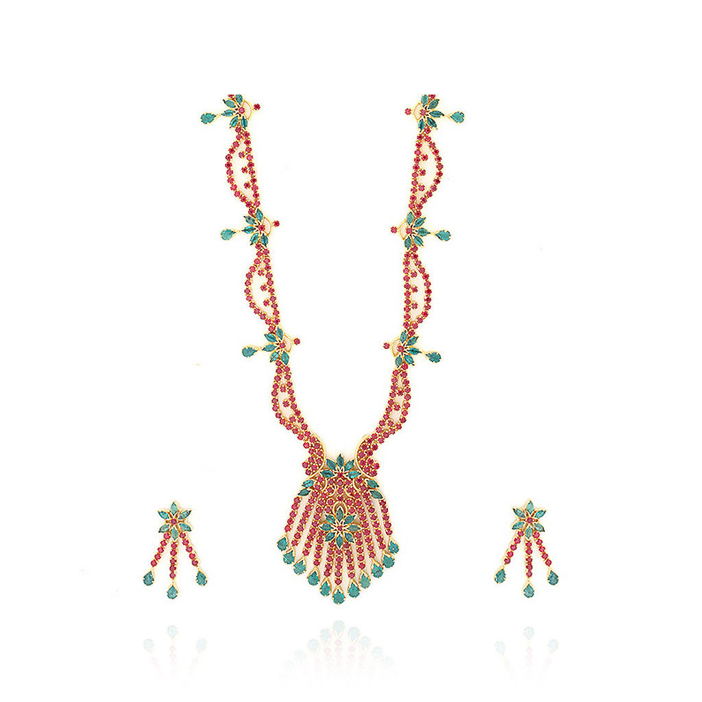 Egyptian Royal Ruby Necklace Set