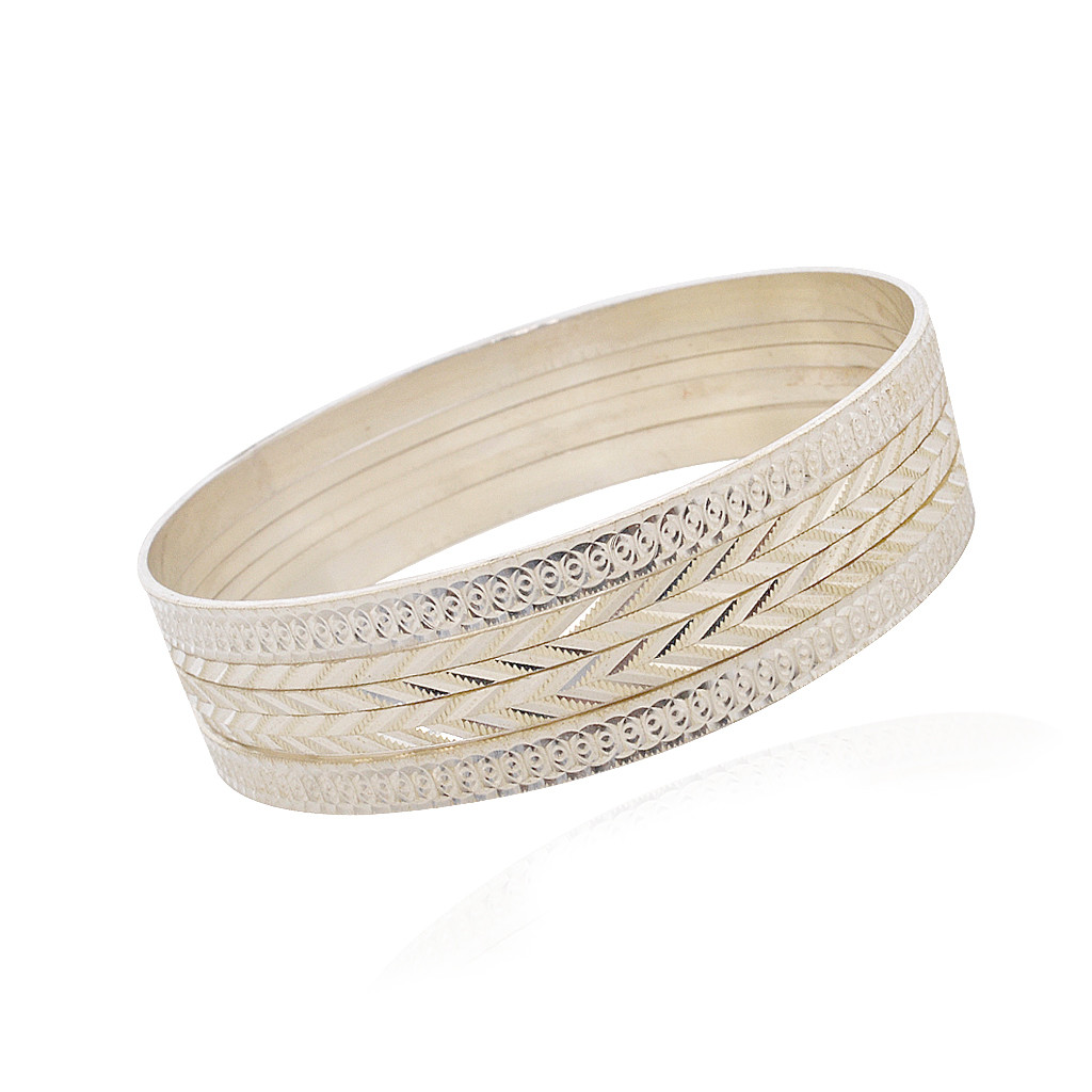 Trendy Design Silver Bangle Silver Material Products