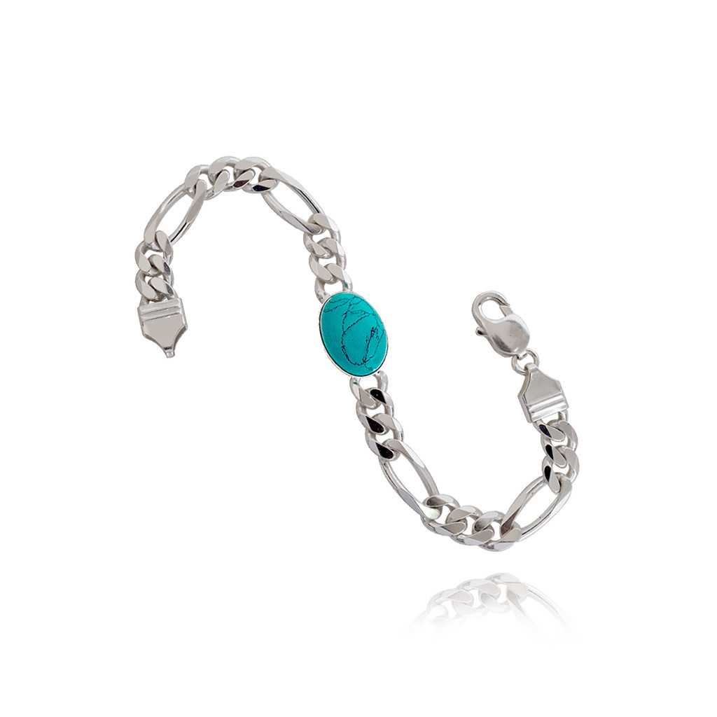 Collections 925 Celebrity Style Turquoise Color Stone