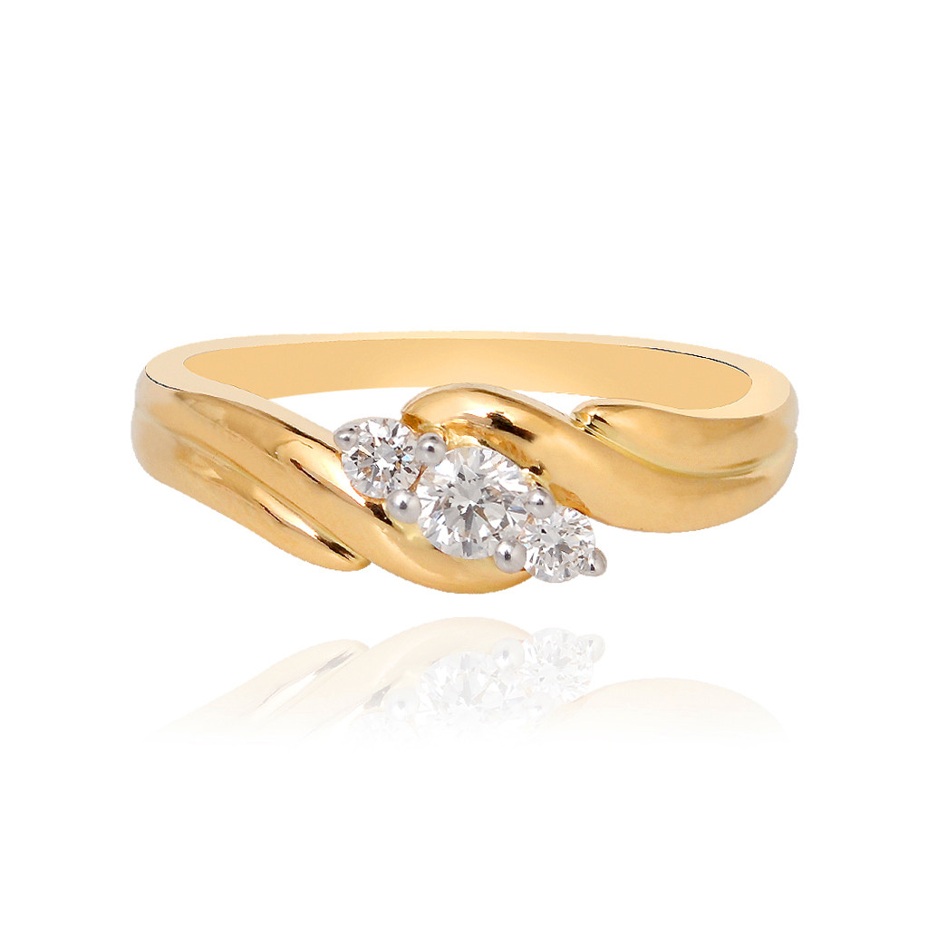 Trident Gold Diamond Ring