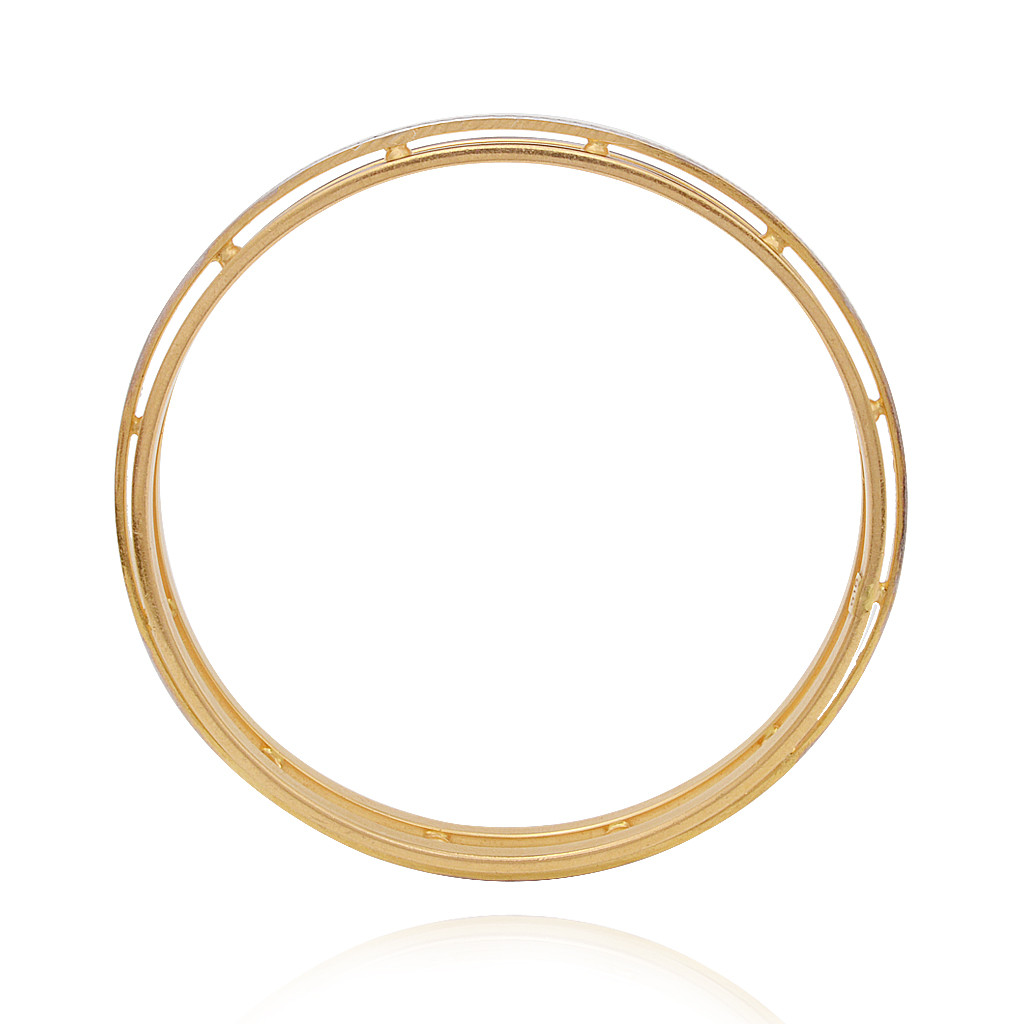 Duo-tone Classic Gold Bangle