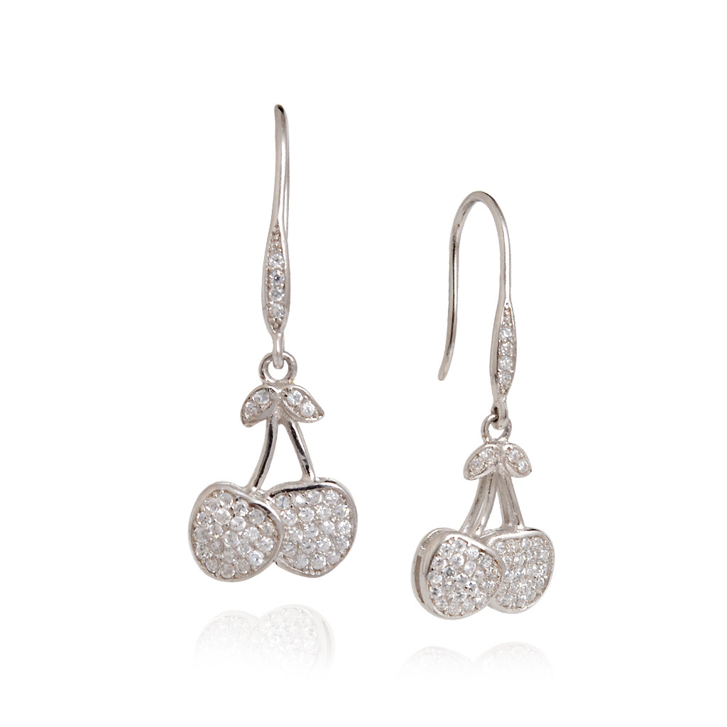 Earrings Elegant Design Silver Micro Pave Setting