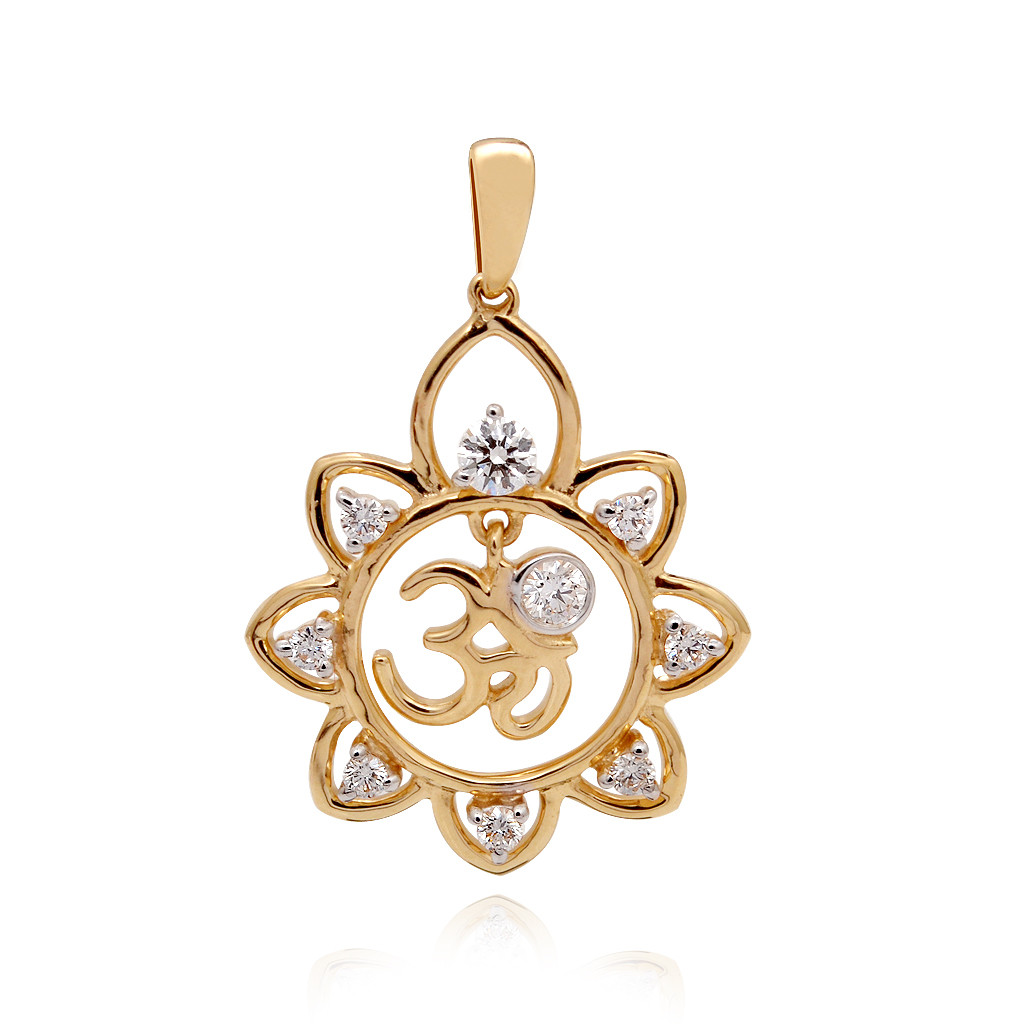 The Nava stones Ohm Diamond Pendant