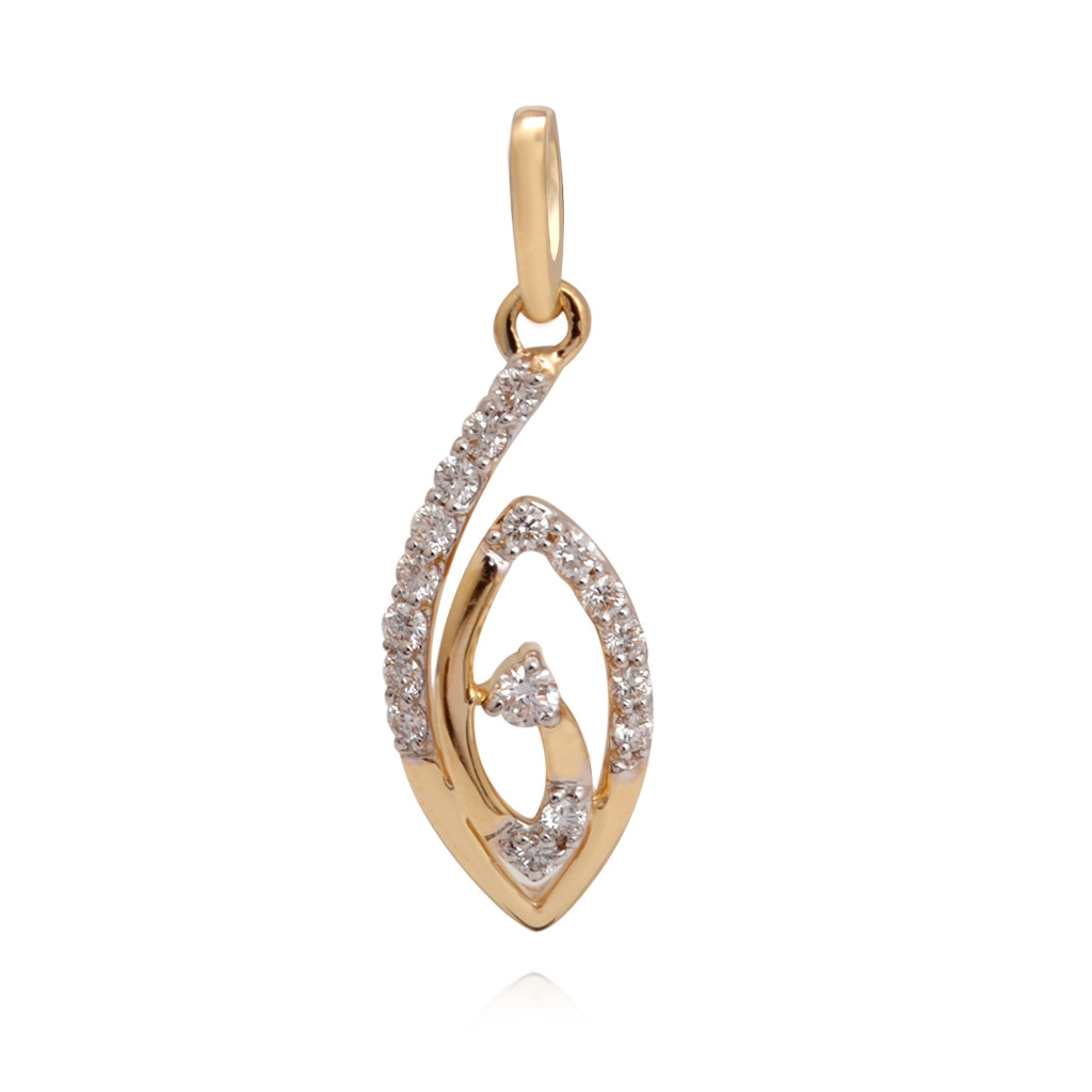 Human Eye Stone Diamond Pendant