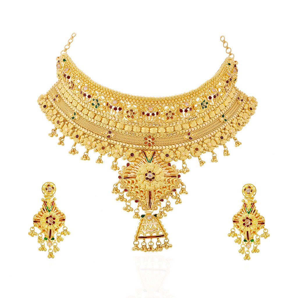 Latest Style Gold  Bridal Necklace