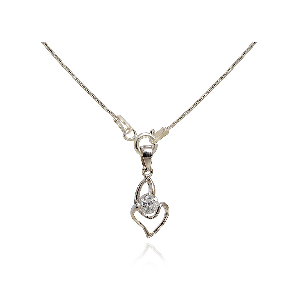 Addicted To Love Duet Silver Heart Pendant