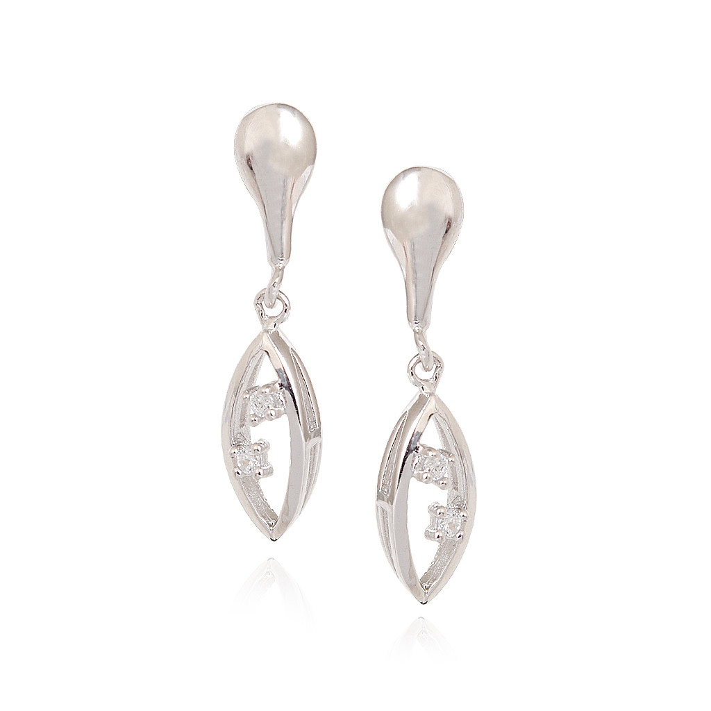 Elegance Dew Drop Silver Earrings