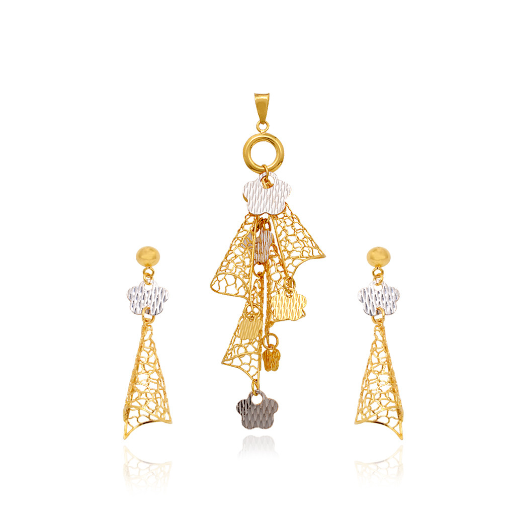 pendants duo tone hanging gold pendant set grt