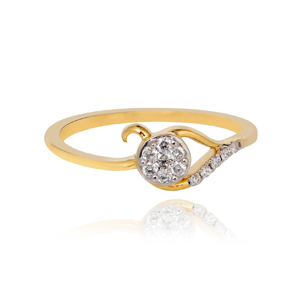 Embraced Flower Diamond Ring