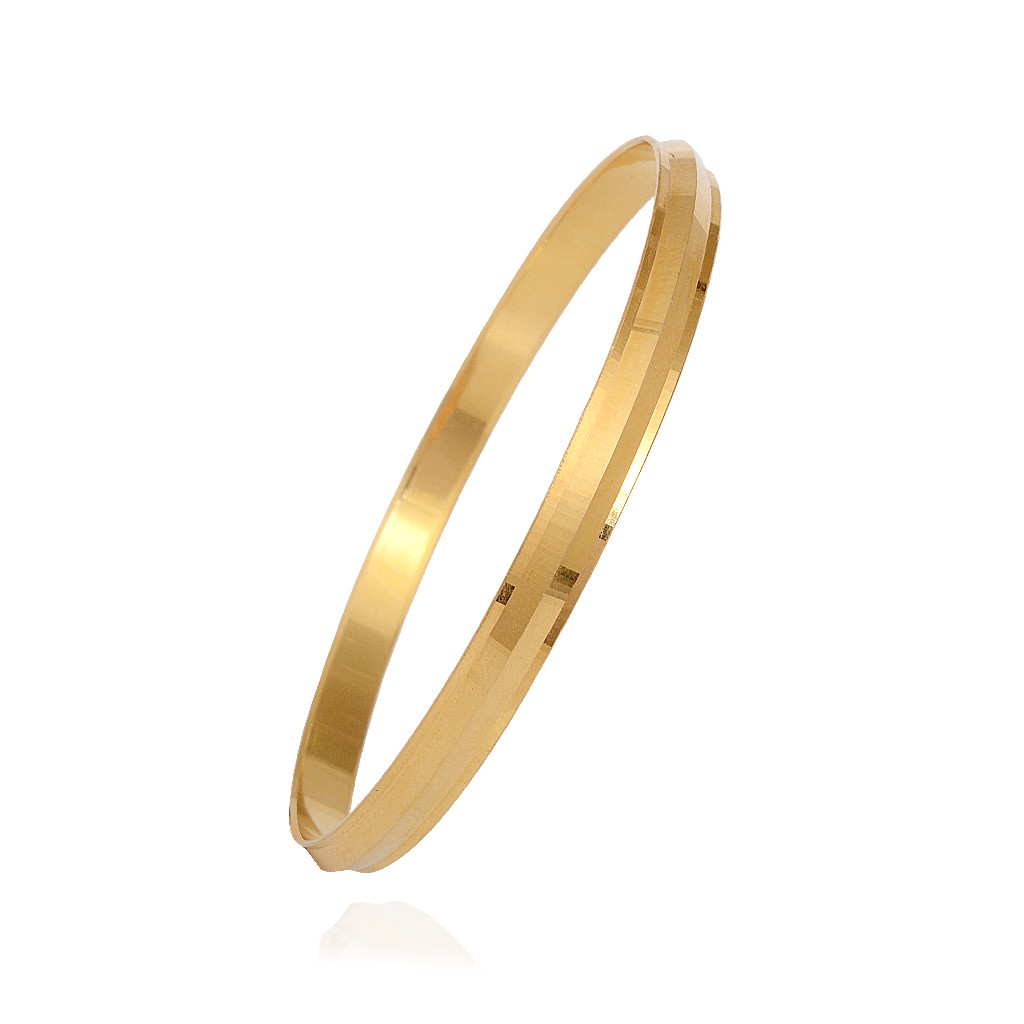 22 Kt Yellow Gold Mens Kada