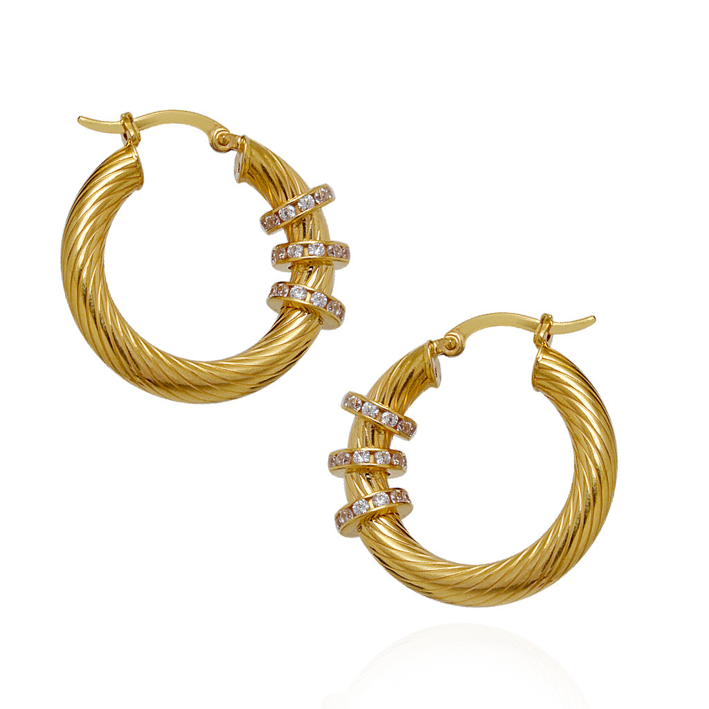 Trendy Gold Hoops Earring for Stylish Women