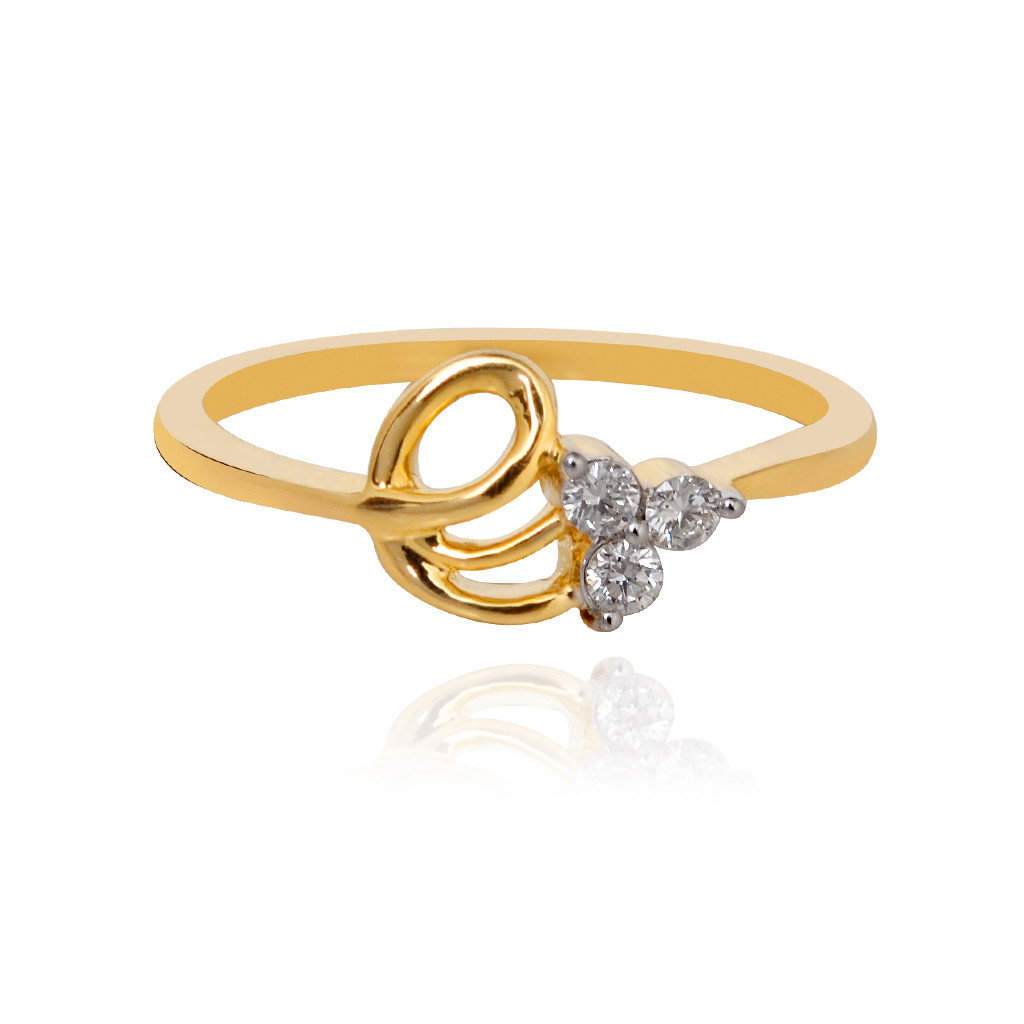 Fantasy Tri Stone Knot Diamond Ring