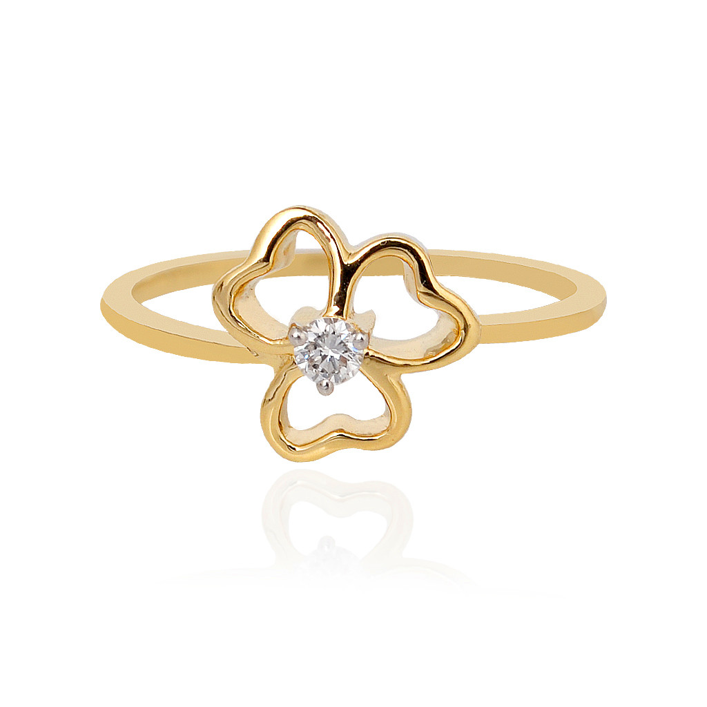 Diya Gold Diamond Ring in 18KT