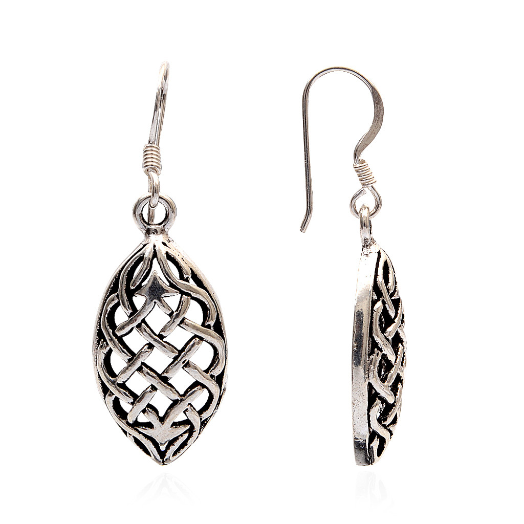 Bloom Love Leaf Silver Earrings