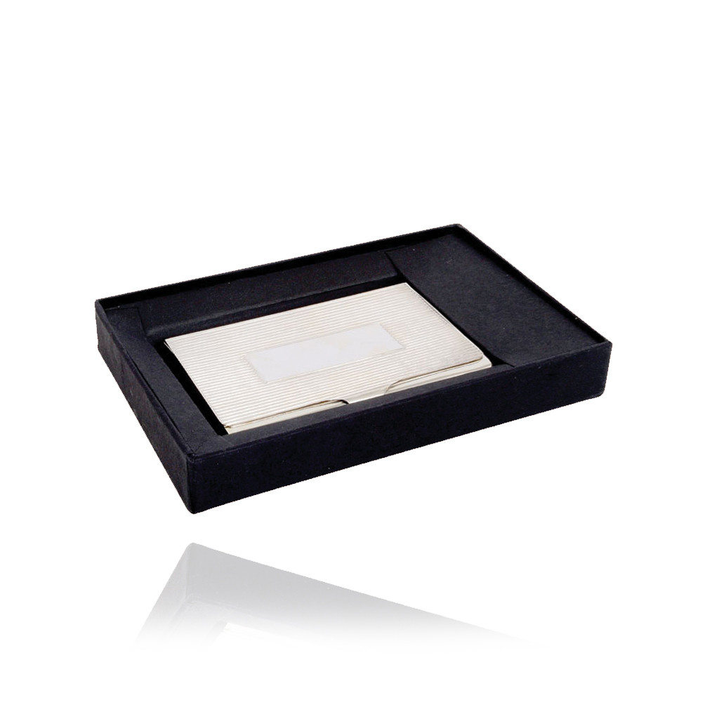 Silver Business Card Box