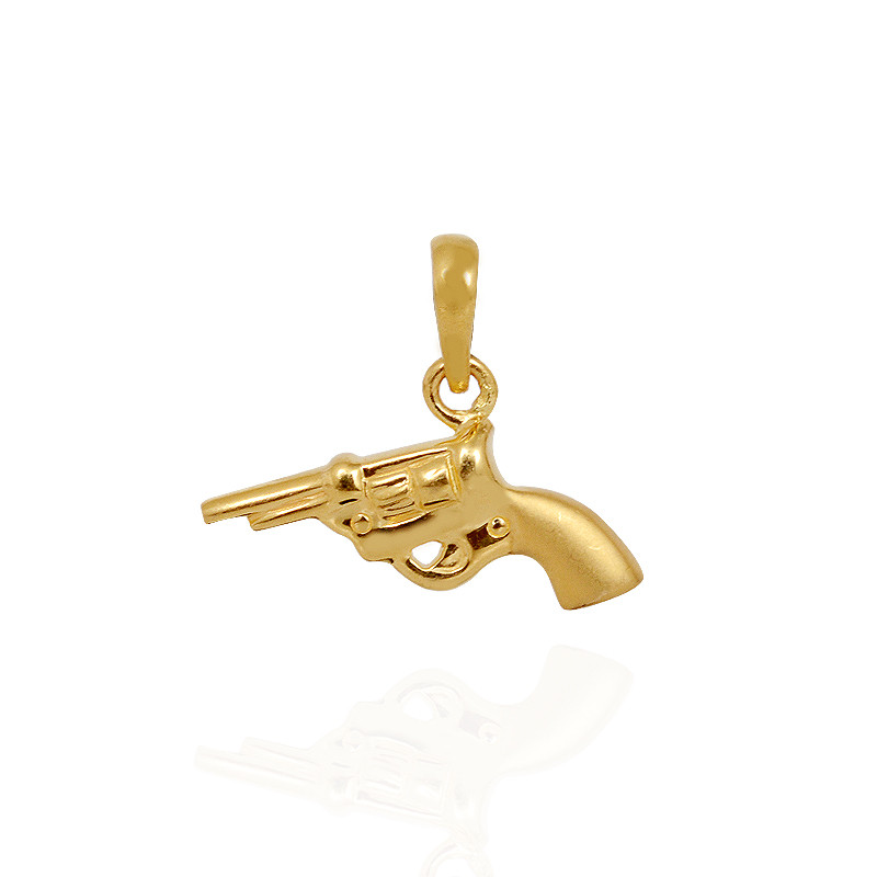 Pendants Gold Gun Pendant Grt Jewellers