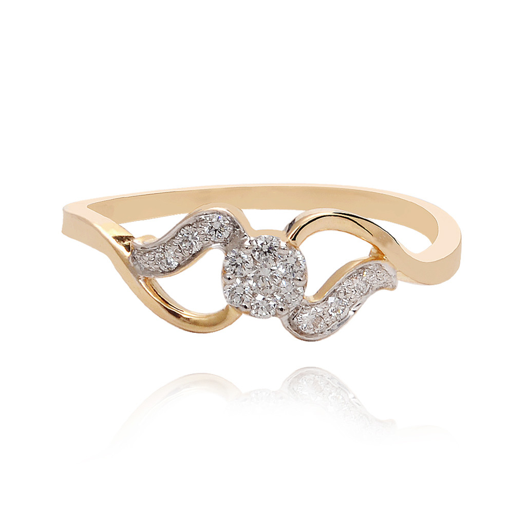 Infinity Gold Diamond Ring